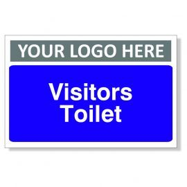 Visitors Toilet Custom Logo Door Sign