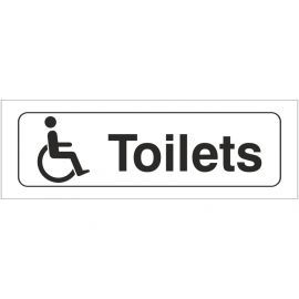 Disabled Toilet Door Sign
