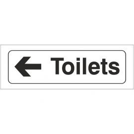Toilets Left Door Sign