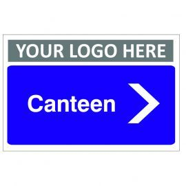 Canteen Arrow Right Custom Logo Door Sign