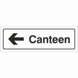 Canteen Left Door Sign