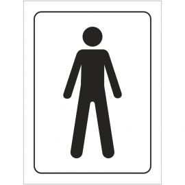 Male Toilet Symbol Door Sign