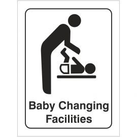 Baby Changing Facilities Portrait Toilet Door Sign