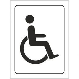 Disabled Symbol Toilet Door Sign