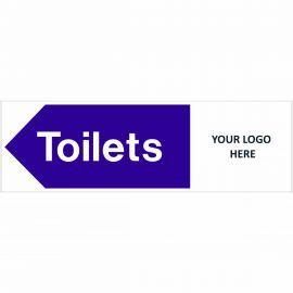 Toilets Arrow Left Door Sign