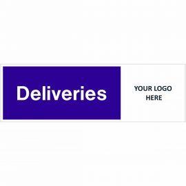 Deliveries Door Sign