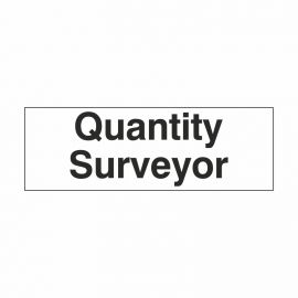 Quantity Surveyor Door Sign