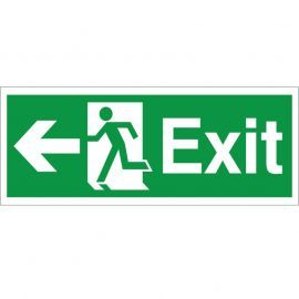 Exit Arrow Left Sign