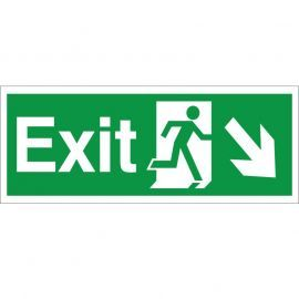 Exit Arrow Down Right Sign