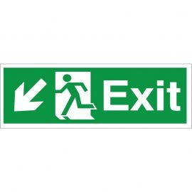 Exit Arrow Down Left Sign