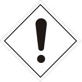 Danger Warning Sign Sticker 100Wmm x 100Hmm