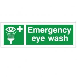 Emergency Eye Wash Safety Sign