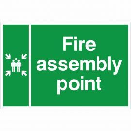 Fire Assembly Point Traffic Sign - Composite Board