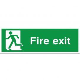 Fire Exit Man Running Left Sign