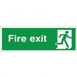 Extra Large Fire Exit Running Man Right Sign 900mm x 300mm