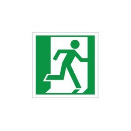 Exit Man Running Right Sign