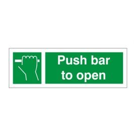 Push Bar To Open Door Sign