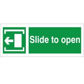 Slide To Open Arrow Left Sign