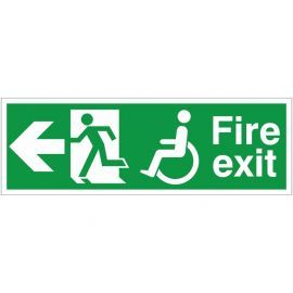Refuge Fire Exit Arrow Left Sign
