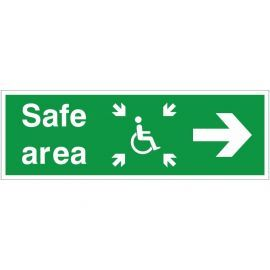 Refuge Safe Area Arrow Right Sign