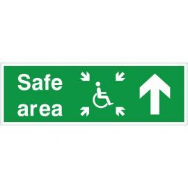 Refuge Safe Area Arrow Up Sign