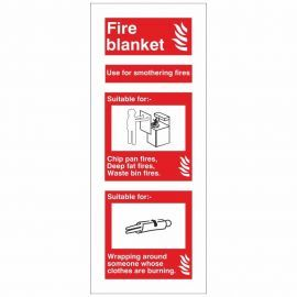 Fire Blanket Fire I.D Sign 80x200
