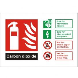 Carbon Dioxide Fire Identification Sign
