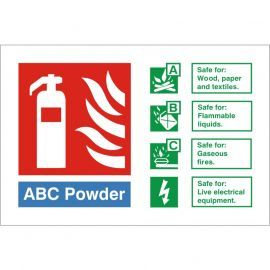 ABC Powder Fire Identification Sign