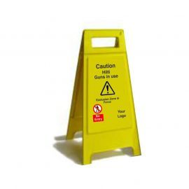 Caution Hilti Guns In UseCustom Made A Board Freestanding Sign 600mm
