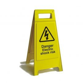 Danger Electric Shock Freestanding Sign 600mm