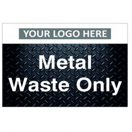 Metal Waste Only Custom Logo Recycling Sign