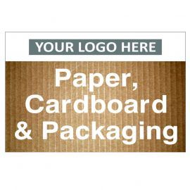 Paper Cardboard & Packaging Custom Logo Recycling Sign