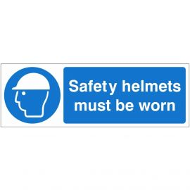 Safety Helmets Must Be Worn 600mm x 200mm - Rigid Plastic