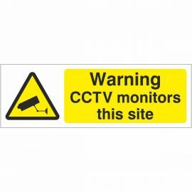 Warning CCTV Monitors This Site Sign
