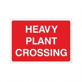 Heavy Plant Crossing Temporary Sign - 1050W x 750Hmm