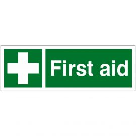 First Aid Sign 600mm x 200mm - Rigid Plastic