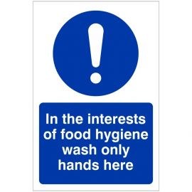 Wash Only Hands Here Hygiene Sign