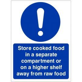 Store Cooked Food In Separate Compartment Sign