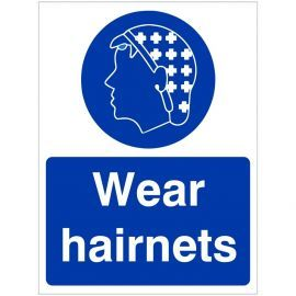 Wear Hairnets Hygiene Sign