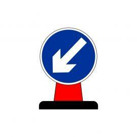 Keep Left Aluminium Composite Cone Sign