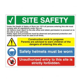 Site Entrance Sign - Site Safety