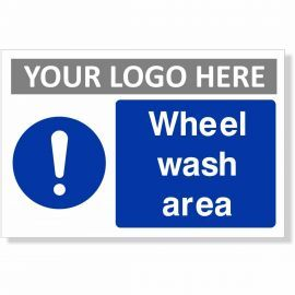 Wheel Wash Area Sign
