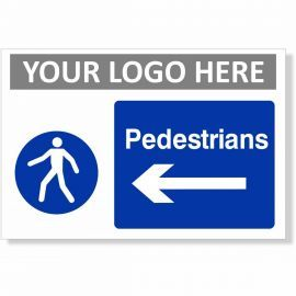 Pedestrians Arrow Left Sign
