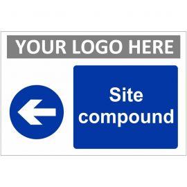 Site Compound Arrow Left Custom Logo Sign