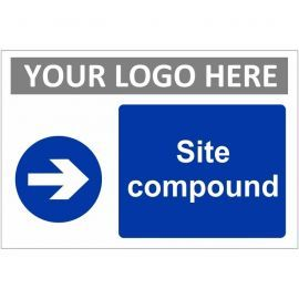 Site Compound Arrow Right Custom Logo Sign