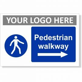 Pedestrian Walkway Arrow Right Sign