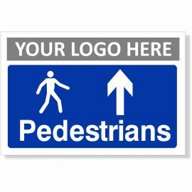 Pedestrians Arrow Up Sign