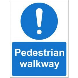 Pedestrian walkway sign in a variety of sizes and materials with or without your logo