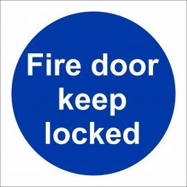Fire Door Keep Locked Door Sign
