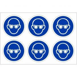 Pack of 24 Wear Eye Protection Stickers